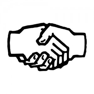 shaking hands, warranty partnership, marketing experts