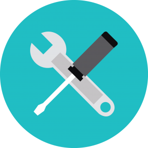 wrench and screwdriver icon maintenance